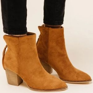 Suede Studded Pointed Toe Ankle Booties NWT!